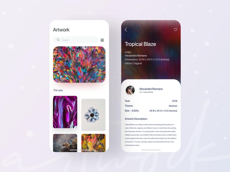 Artwork. painting art trending trendy app design app clean uiux design ux ui