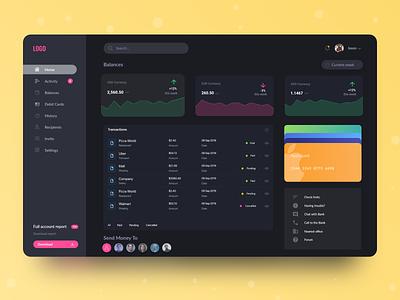 Financial Dashboard financial finance dashboard ui dashboard design web design app web clean uiux ux ui design