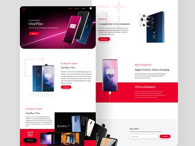 OnePlus branding tranding landing page web design web clean uiux ux ui design