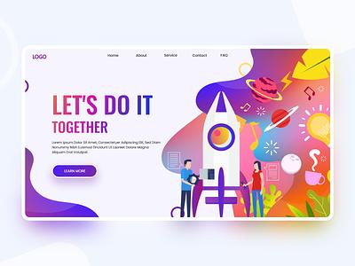 Lets do it. gradients landingpage web page creative design colors illustration web design web clean uiux ux ui design