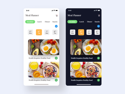 Meal Planner. trending design trending ui planner food app app design app clean uiux ux ui design