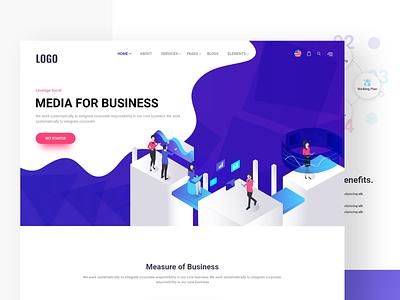 Media For Business landing page design website web design page landing web clean uiux ux ui design