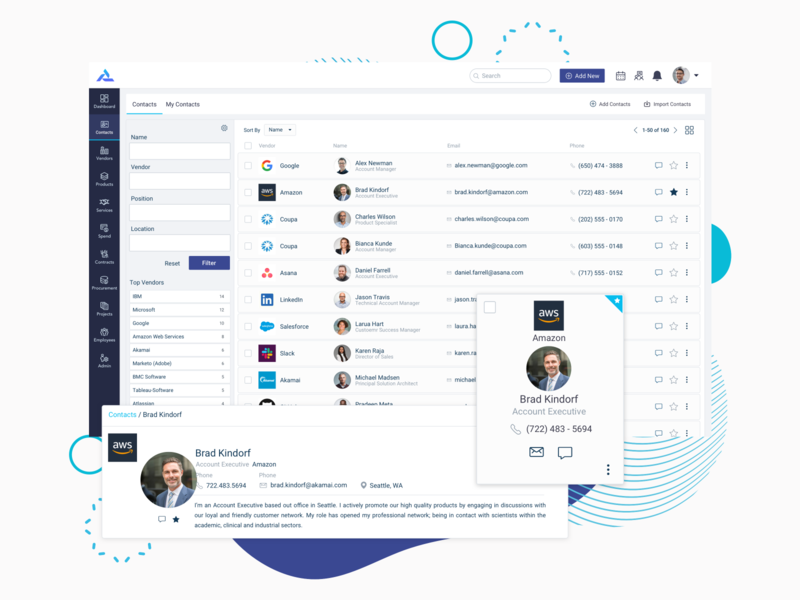 Terzo - Contacts product design design ui