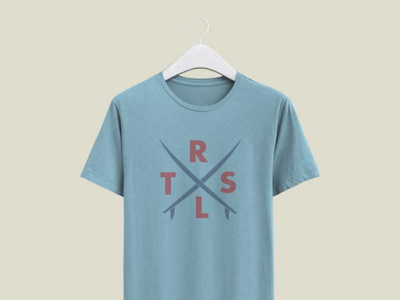 Shirt Mockup for TRSTLS Surf Apparel clothing label clothing brand product design logo