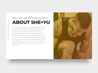 She+Yu About Card design branding keynote