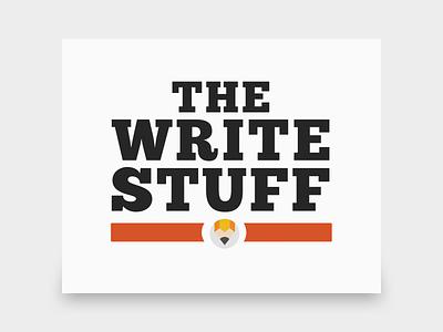 The Write Stuff Logo vector adobe illustrator illustration branding logo