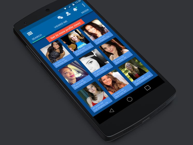 Match.com   Android OS Refresh mobile app design mobile ui mobile app ux product design ui