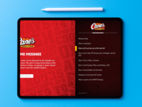 Raising Cane's iPad Training Platform ios development ios app design product design