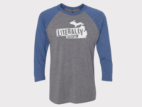 Literally Michigan T-Shirt clothing design adobe illustrator product design