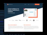MarketChorus Website Redesign product design ui ux website design