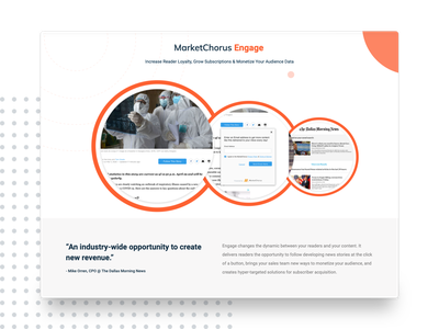 MarketChorus Website Redesign ux ui website design