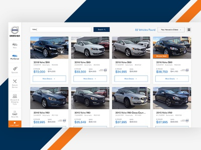 Volvo Dealership Search Result Page car dealership suvs cars website ux ui automotive car volvo result search