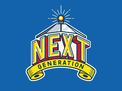 Logo Portfolio Night Blue Background event branding typography promotion branding illustration logo