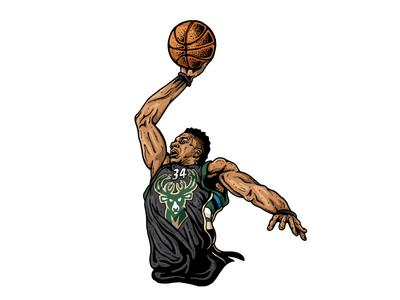 Giannis WIP basketball art basketball sports art sports illustration art illustration