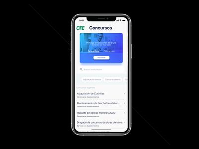 CFE [CES] APP flat minimalist mobile design ui design ui mobile app design app