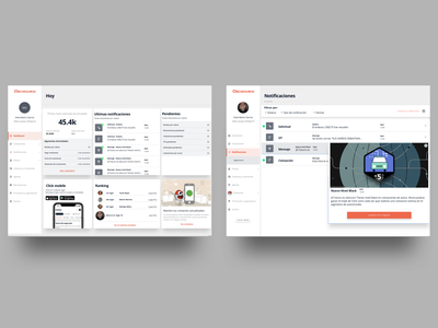 Click Dashboard flat insurance desktop app desktop minimal minimalist design ux ui