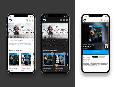 uv Market place concept light dark mode flat minimal design mobile app ux ui ecommerce
