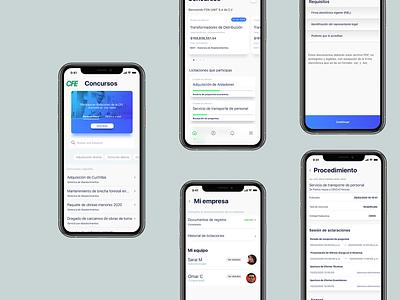 CFE APP minimal design ux mobile ui
