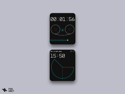 Clock concept player voice note clock minimal werable smart watch ui