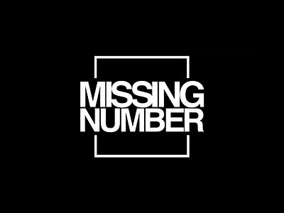 Missing Number vector mark identity app web helvetica typography branding logo design
