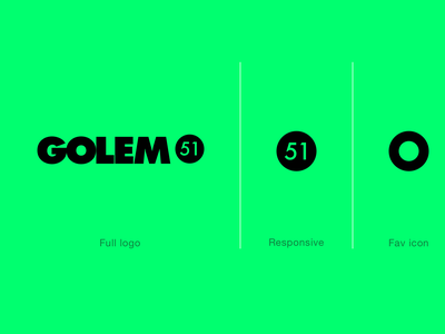Golem 51 vector typography mark ios logo identity icon branding app