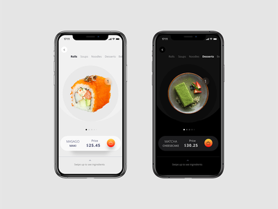 Japanese food UI visual uiux interface userinterface experience user ui shopping os natural ios sushi food ecommerce ai add