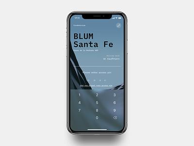Condominum concept lockscreen minimalistic typography design ios ux ui mobile ui typo app mobile minimalist minimal