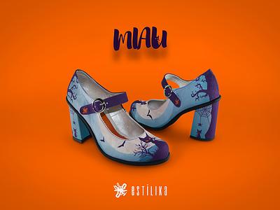 Estilika - Miau fashion motion graphics after effect branding concept branding product development graphic  design graphic art shoes