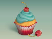 Muffin & Cherries
