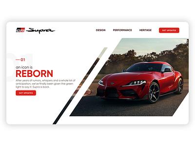 Toyota Supra Website Rendition flat ui ux design web website gr supra toyota