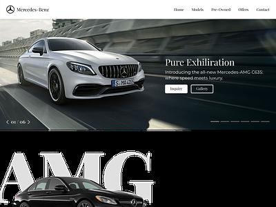 Mercedes-AMG Concept Site c63 mercedes-benz amg mercedes webdesign website web ux ui flat design