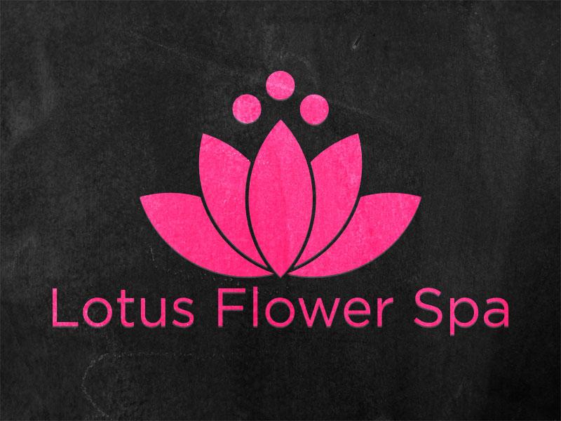 Lotus Flower Spa lotus flower spa logo lotus