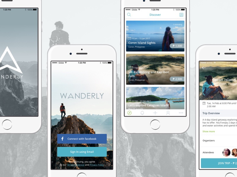 Wanderly iOS app - WIP by Ericson Luciano on Dribbble