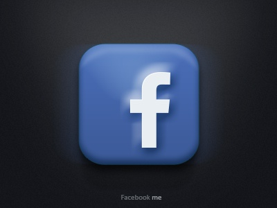 Facebook time! facebook rebound ui ios app design fb social blue icon graphic graphic design