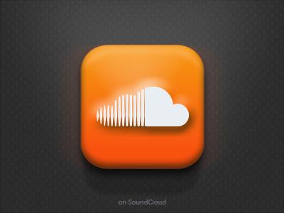 SoundCloud time! app soundcloud icon ios rebound design sound social music orange ui graphic design