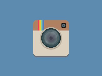 Flat Instagram Icon ios photography flat design rebound lens icon ui flat instagram camera app icon photoshop android design photo graphic design app ios 7 appicon playoff rebounding ios7 photos