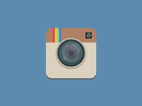 Flat Instagram Icon