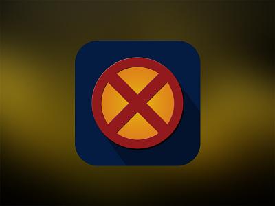 X-Man Flat Icon xman icon ios x-man rebound ios 7 flat playoff design photoshop ui appicon