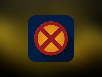 X-Man Flat Icon xman icon ios x-man rebound ios 7 flat playoff design photoshop ui appicon