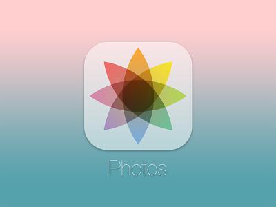 iOS 7 Octagram Flower photos ios 7 app photo rebound flat design ui photoshop photography icon flat app icon