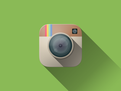 Flat Instagram Icon Vol. 3 graphic design photoshop ui flat icon app rebound flat design ios 8 app icon instagram photography