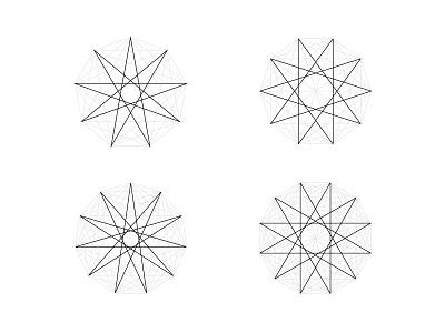 Sacred Geometry 9-12 enneagram sign seal pentagram king symmetry sacred geometry geometry sacred triangle star polygon