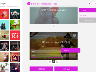 Personality Test digital ui ux content storytelling interaction interactive poll quiz personality quiz personality test personality
