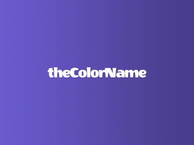 theColorName jekyll showcase color name palette color names html git scss sass css github colors