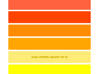 Sunrise jekyll sunrise colors github css scss git html color names palette sunset rainbow