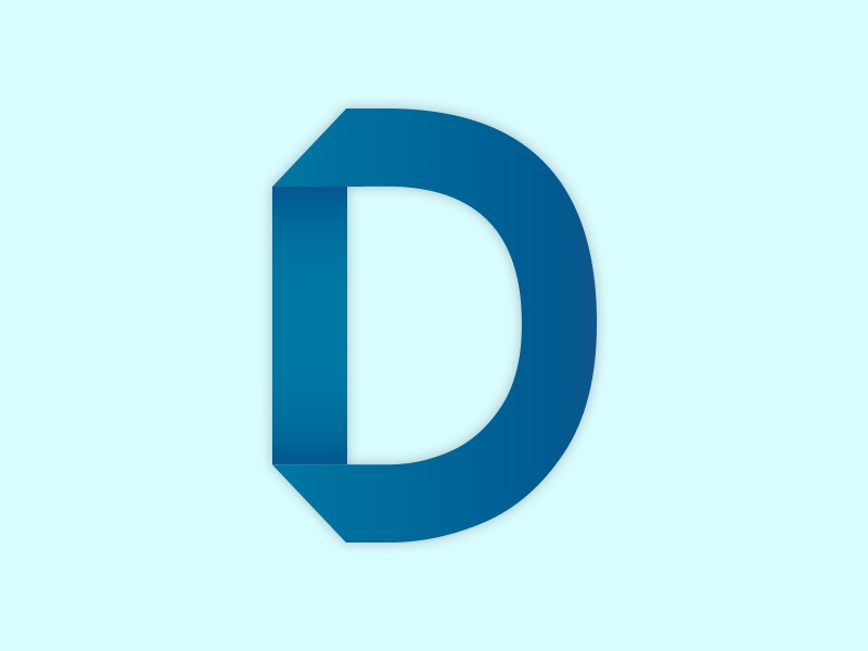 Digitizer letter d illustrator d letter vector photoshop typography branding graphic design design
