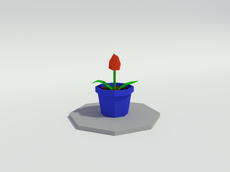 Low Poly 3D model Tulip in Vase by Bram van Vliet on Dribbble