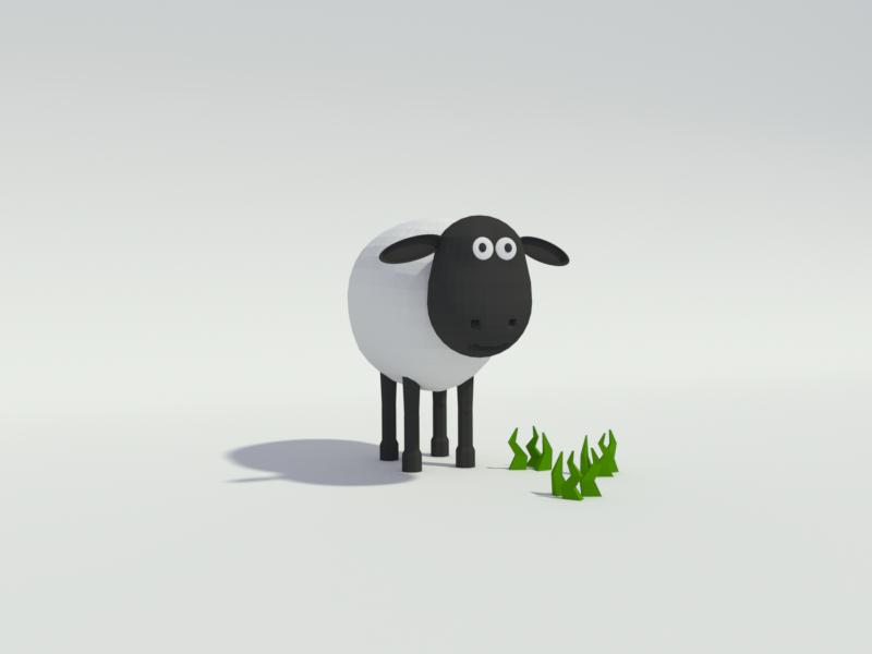 Low Poly 3D Sheep by Bram van Vliet on Dribbble