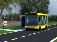 Just a Bee missing the bus