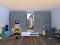 Bee moved into her new apartment